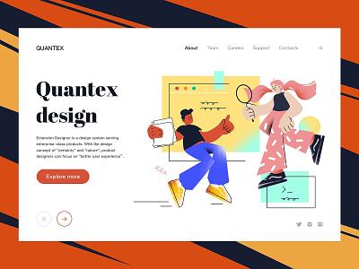 Quantex Design Landing page affinitydesigner vector timberlake branding ui sketch design web landingpage illustration