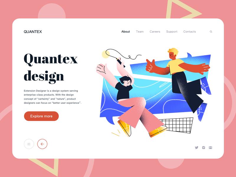 Quantex Design Landing page affinitydesigner vector timberlake branding sketch design web landingpage illustration
