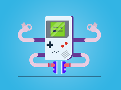 Day 6 - Game boy power | 30 day illustration challenge