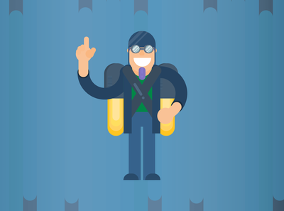 Day 10 -rocket man | 30 day illustration challenge
