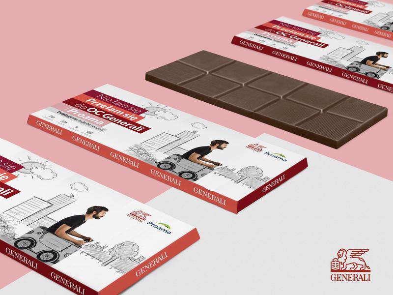 Generali Sweet Campaign - packaging for chocolate packing design generali advertisement design