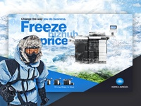 Konica Minolta Freeze bizhub advert