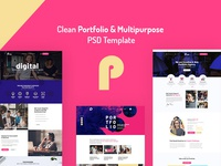 Picko - Clean Portfolio & Multipurpose PSD Template