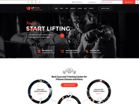 Lifting - Fitness, Gym, Yoga & Sports PSD Template