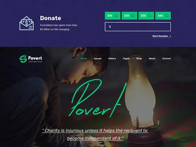Povert - Nonprofit Fundraising Multipurpose PSD Template