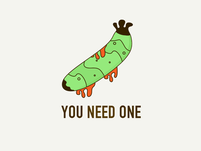 You need one green sex cucumber illustration sketch ai photo you one need color banana