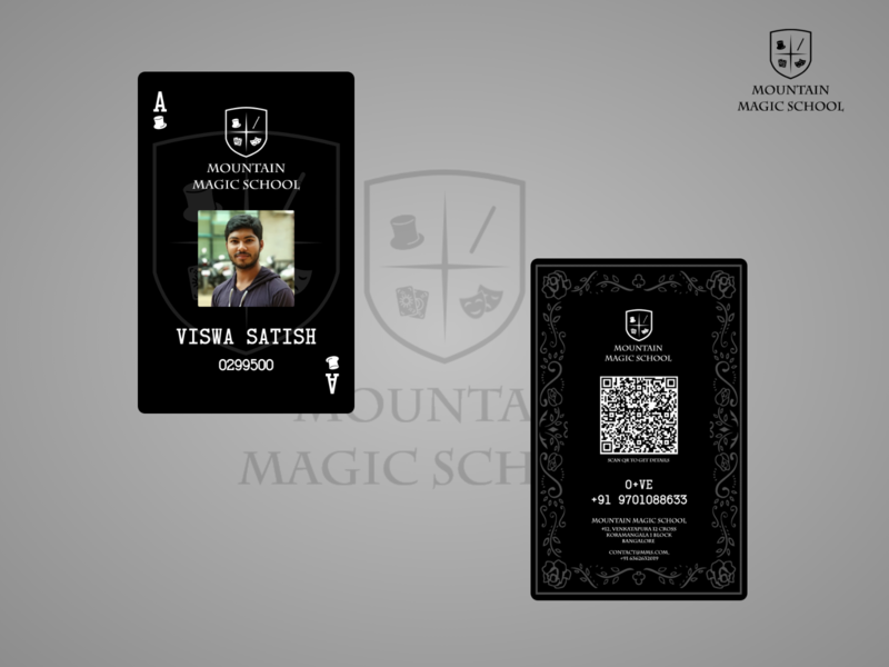 Magic School Student ID card playing card