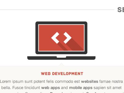Koolko flat design developer code service shadow simple clean