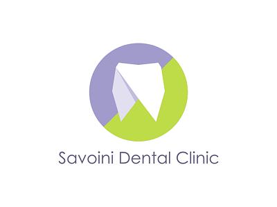 Savoini Dental Clinic design flat teeth logo clinic dental savoini