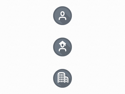 Uniboard Icons university student people design flat icons