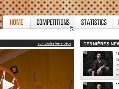 Ethias League basketball basket sport navigation site webdesign news black videos title