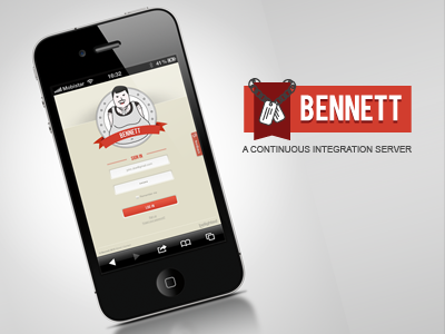 Bennett - A continuous integration server bennett iphone smartphone application rails ruby belighted parody movie responsive