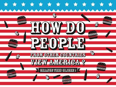 Usa - Sandy Hook tragedy usa america guns money dollar junk food burger fries bullet flag star sandy hook inspiration question typography