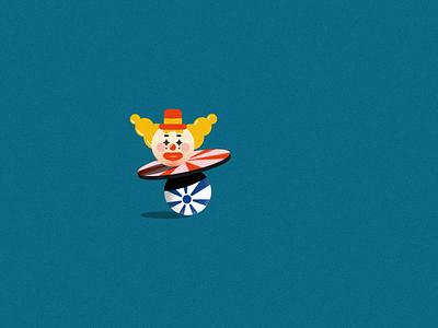 Faux 3D Clown halloween clown motion design 2d after effects faux 3d fake3d motion graphics animation