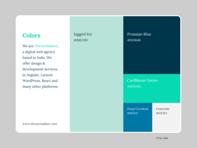 Color Pallete TTM-A04 themes colorpalette colors typography branding illustration ui graphic dribbble thememakker
