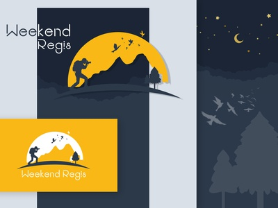 Weekend Regis logo vector dribbble brand agency brand ui yellow logo graphic  design graphic art graphic regis weekendlogo thememakker branding illuatration logodesign logo