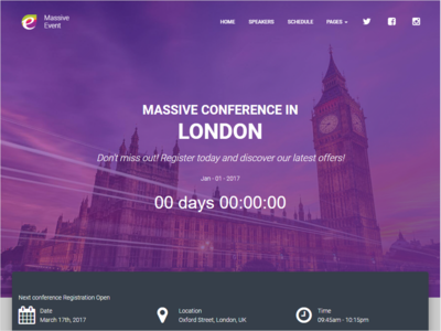 Event Conference HTML Template conference event html email thememakker