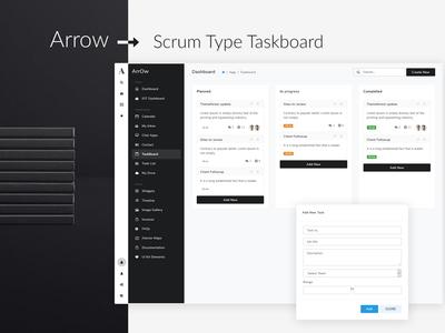 Arrow Scrum Type Taskboard