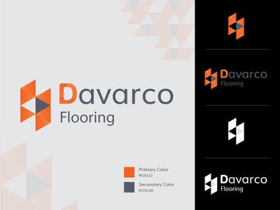 Davarco Flooring Logo design dribbble thememakker orange color orange logo flooring branding agency brandidentity branding brand icons logotype logo illustration logo desigin logo
