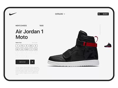 Nike fullscreen slider typography appcraft animation design sneaker scroll web ui concept fullscreen slider jordan nike