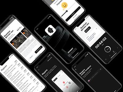 Sport UI dark theme dark sport gym appcraft typography ux app concept ui design app ios