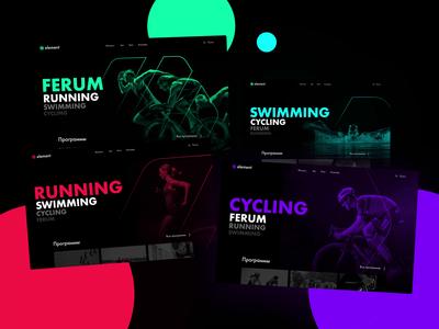 Dynamic sport page typography webdesign website sports design sports branding sport web animation ui design