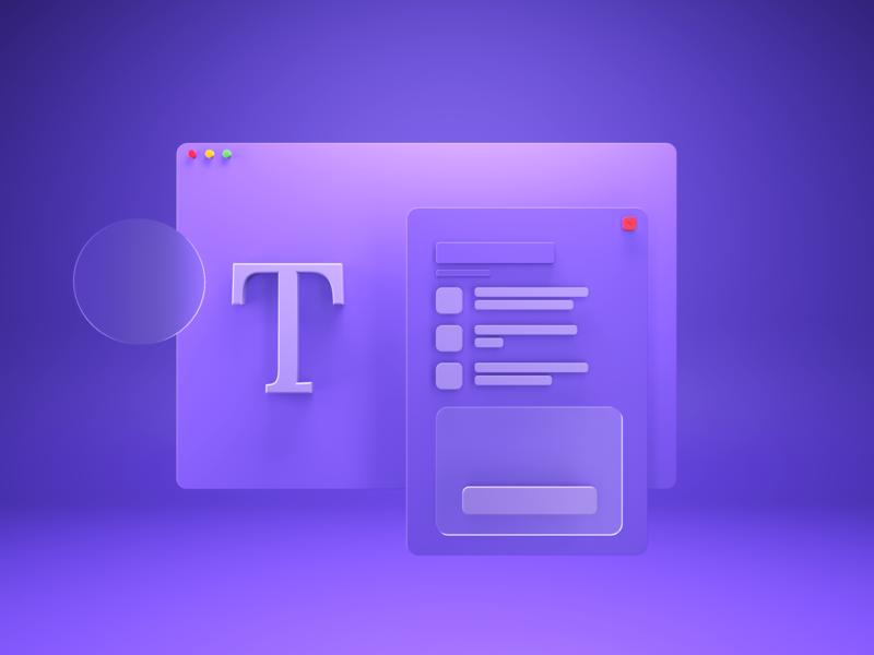 Type Elements cover cinema 4d rendering reedshift cinema4d render web colors illustration typography