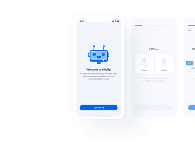 Sholly App | Onboarding onboarding artificial intelligence ai chatbot chat ui startup motion mobile minimal ios design application app animation