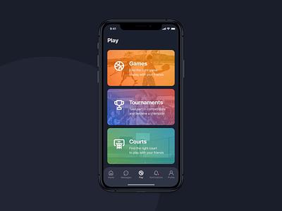 3x3 | Tournament ui dark theme sports court street ball basketball startup motion mobile ios design application app animation