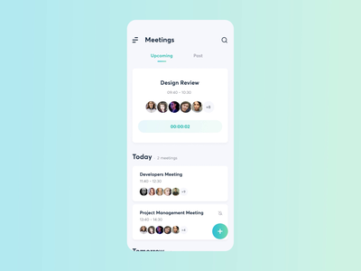 Meeting AI | Join a Meeting ai team app meeting message chat animation application design startup mobile motion ios ui minimal