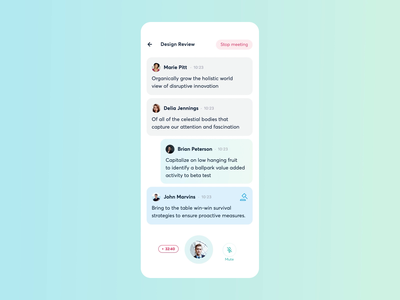 Meeting AI | Finished Meeting ai team app meeting calendar date animation application design startup mobile motion ios ui minimal