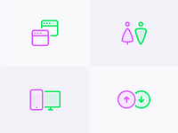 Duo colored icons