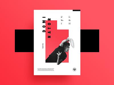 Roland Carros Poster - Dominic Thiem roland garros dominic thiem square red gradient geometric modern print poster tennis monochrome