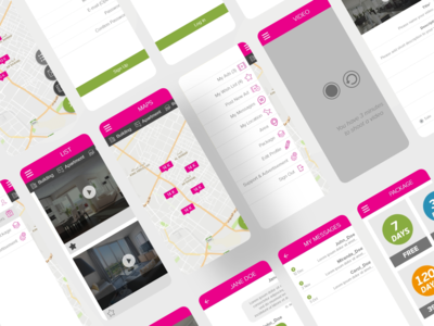 Video aqar mobile app design