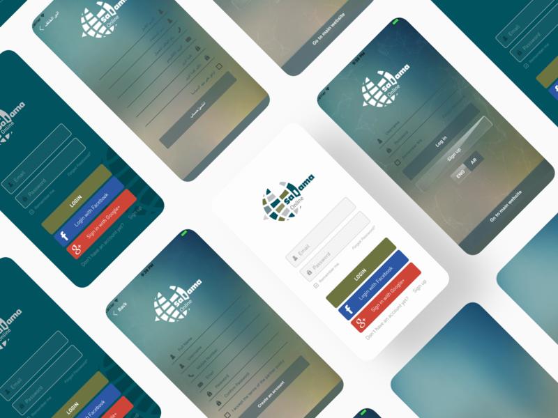 Salama Apps typography trending design 2019 trend dribbble ios app design app app design designer appdesigner insurance minimal arabic design uidesign uxdesign design android ios app appdesign