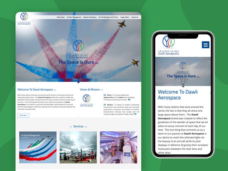 Website for Dawliaero flat vector dribbble dashboard identity type designs uxdesign uidesign website design webdesign branding web ux ui website typography minimal design arabic design