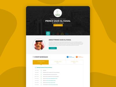 Website Design For PRINCE SAUD AL-FAISAL
