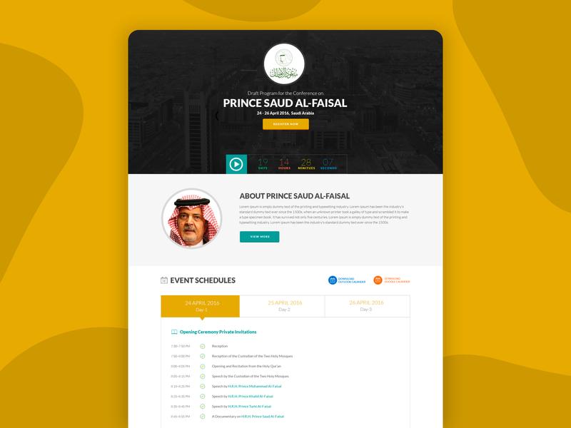 Website Design For PRINCE SAUD AL-FAISAL dashboard identity dribbble designs uxdesign uidesign designer website design webdesign website design minimal arabic design