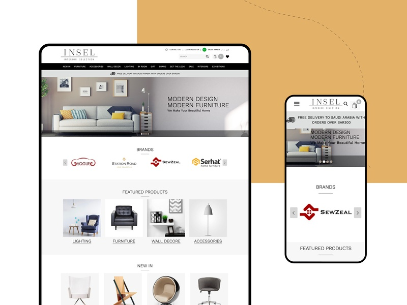 Website For Insel 2019 trend table product interior uxdesign uidesign designer website design webdesign typography website minimal design