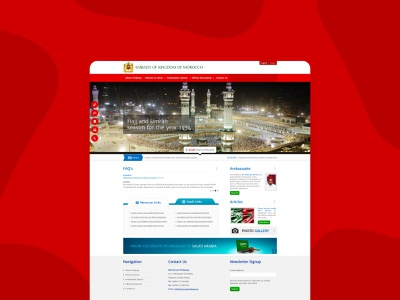 Website for Moroccan embassy morocco embassy designs dribbble uxdesign uidesign designer website design webdesign typography website minimal design