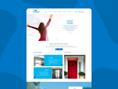 Website for Pur AIr illustration type designer dashboard dribbble designs uidesign uxdesign website design webdesign arabic design typography website minimal design