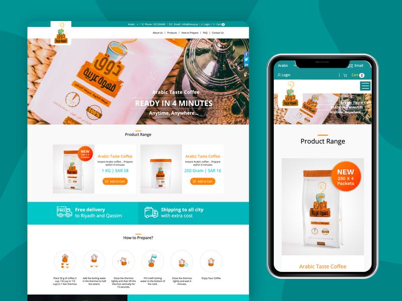 Website for Thouq ux ui arabic design vector dribbble type identity dashboard designs web uxdesign uidesign branding designer typography website minimal website design webdesign design