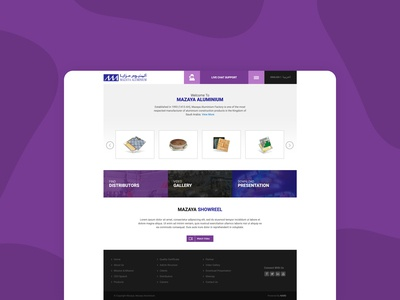 Website for  Mazaya Aluminium Factory