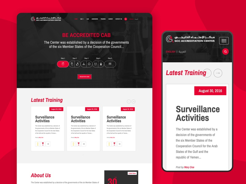 Website for GCC accreditation Center embassy web designer insurance identity dribbble dashboard uidesign designs uxdesign branding website design webdesign typography website minimal design