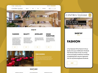 Website for Centria Mall uxdesign uidesign branding designer website design webdesign typography website minimal design