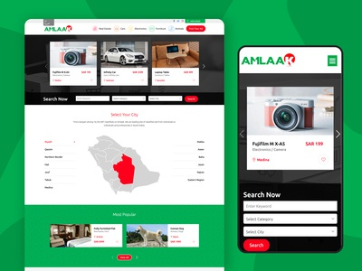 Website design for Amlaak