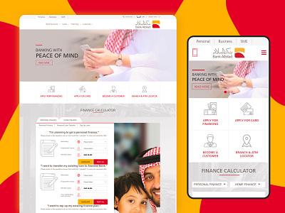 Website design for Bank Albilad bank card albilad bank uxdesign uidesign designer website design webdesign arabic design typography website minimal design