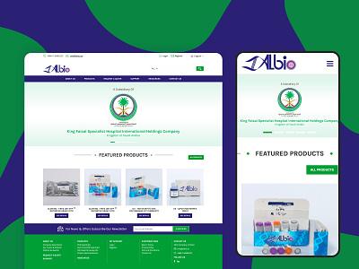 Website design for ALBIO dribbble web uidesign uxdesign designer website design webdesign typography website minimal