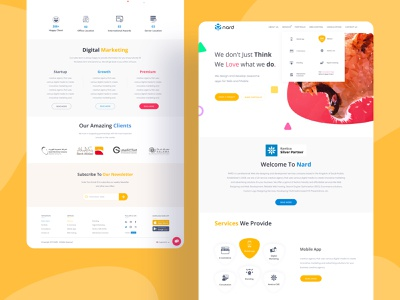 Nard website redesign agency trend redesign designer dribbble uxdesign uidesign website design webdesign typography website minimal design