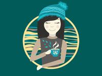 Cute girl with coffee
